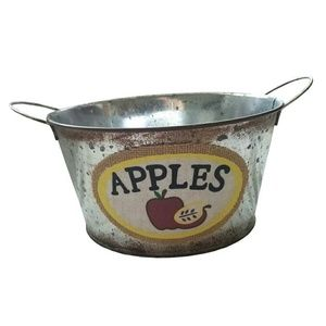 Other - Metal Tin Apples Bucket